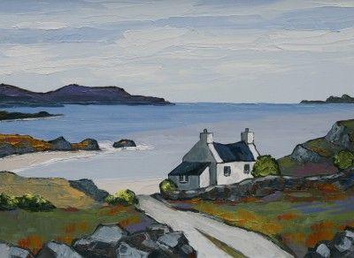 British Artist David BARNES-The Sutherland Coast