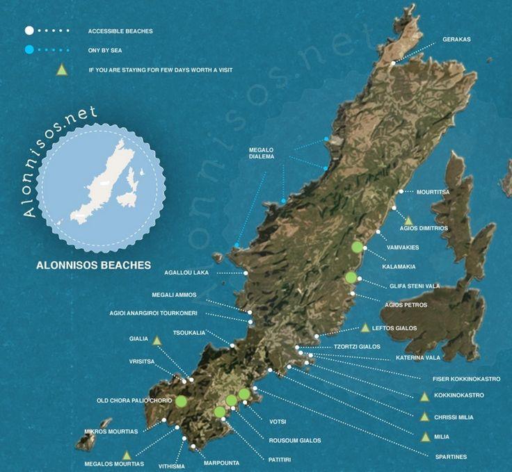 Alonnisos tourist map