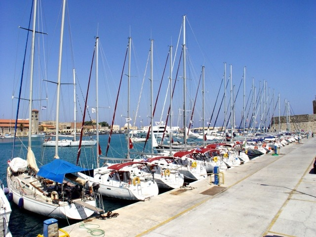 Boats in the Rhodes Town Harbour...