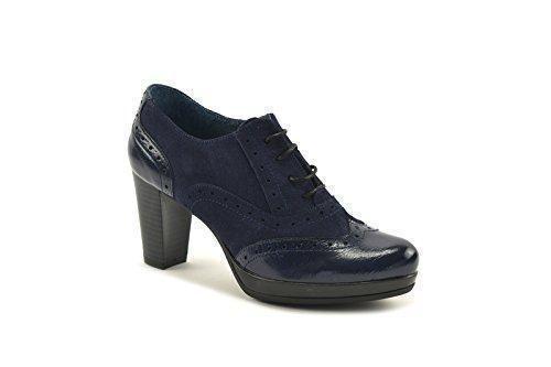 Oferta: 58.9€. Comprar Ofertas de ConBuenPie by Agashu - New Collection - Zapato abotinado piel Azul y Visón. (41, Azul) barato. ¡Mira las ofertas!