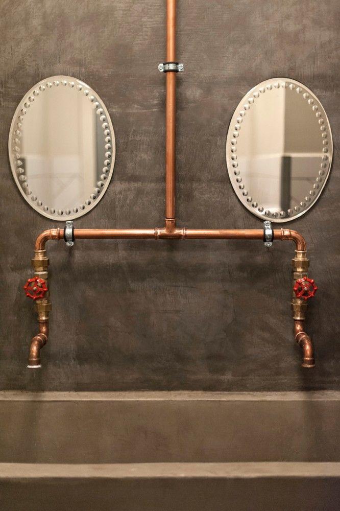 Rejuvenation Copper: copper pipes + mirrors  // Swede Cottage Farm //