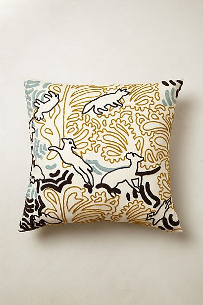 Animal Outline Pillow #anthropologie