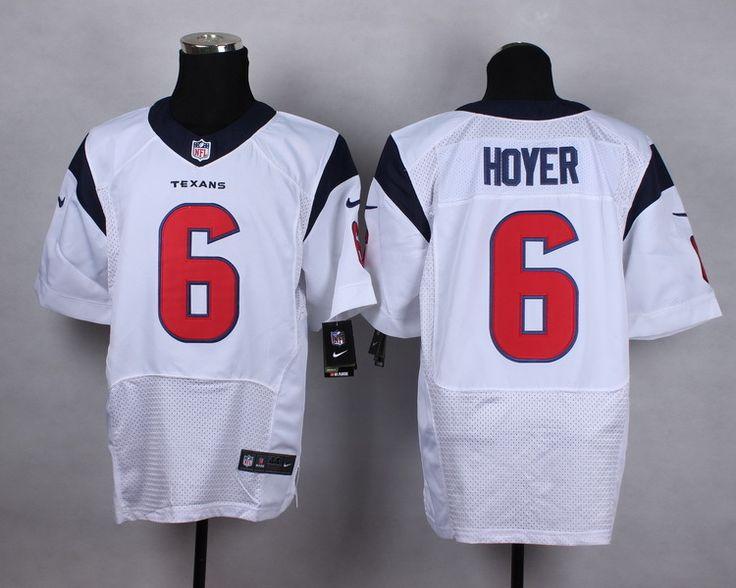 NFL Houston Texans Elite #6 hoyer white Elite jerseys