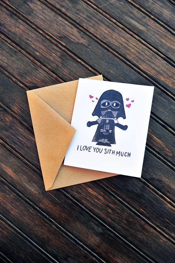 Te quiero Sith mucho tarjeta darth vader tarjeta por CalliopeCorner