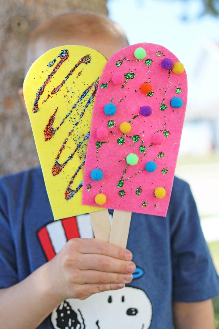 Felt Popsicle Craft Kids|  Darice