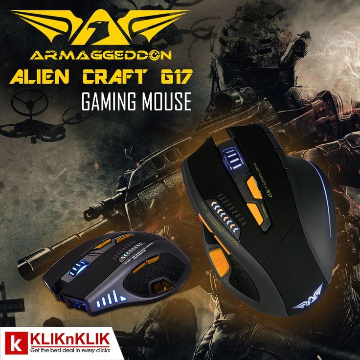 Hai Gamers, kenalin nih Armaggeddon Alien Craft. GamingMouse dengan RAM internal. Menjadikan setiap gerakan lebih responsif dan lembut.   Beli disini http://j.mp/2cABnbC