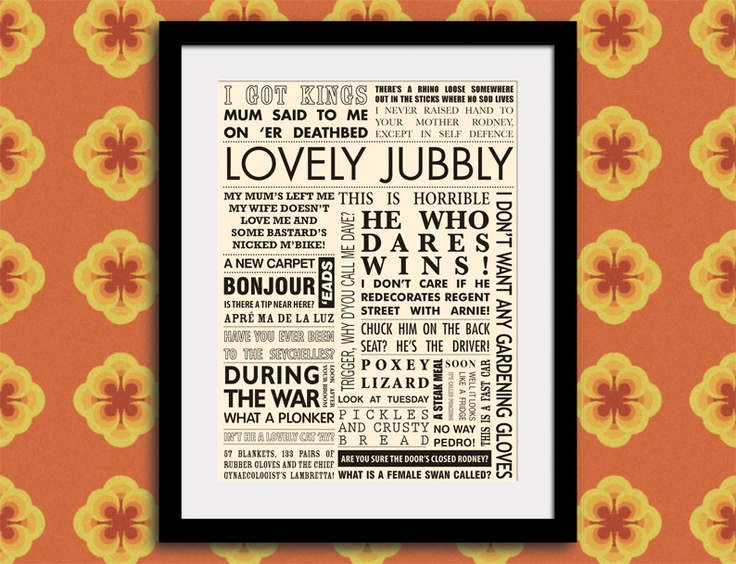 Andrew Fishleigh (graphic designer): Only Fools and Horses Quote Print