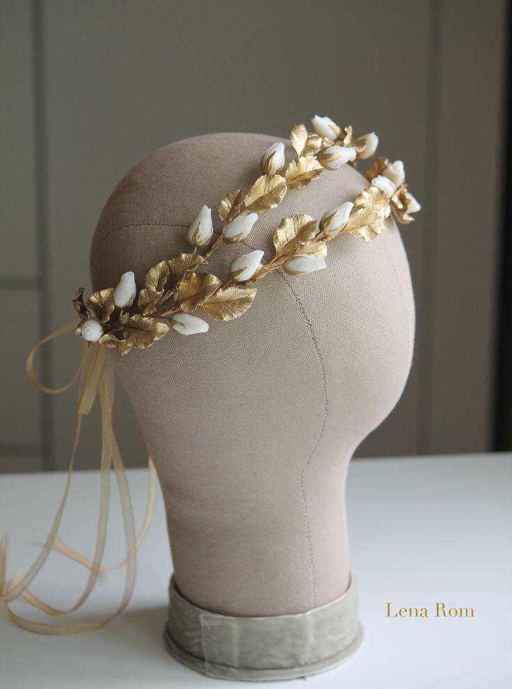 Bridal headpiece/ Bdidal wreaths/Wedding por LenaRomHeadpieces