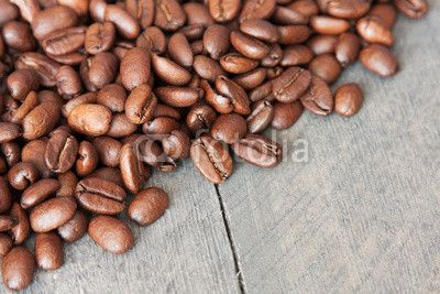Kaffebohnen diagonal
