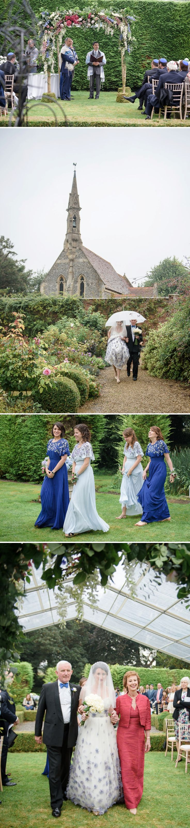 outdoor wedding ceremony sites in akron ohio%0A A Stephanie Allin bride in a blue and white wedding dress for an English  country garden Jewish wedding at Adwell House  Oxfordshire  Smashing the  Glass