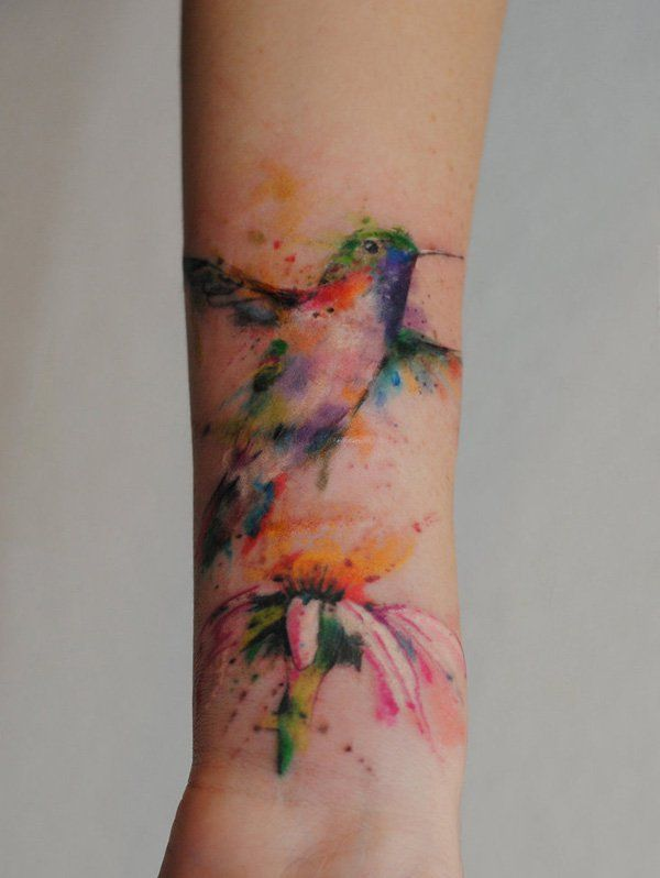 hummingbird watercolor tattoo - 55 Amazing Hummingbird Tattoo Designs  <3 <3