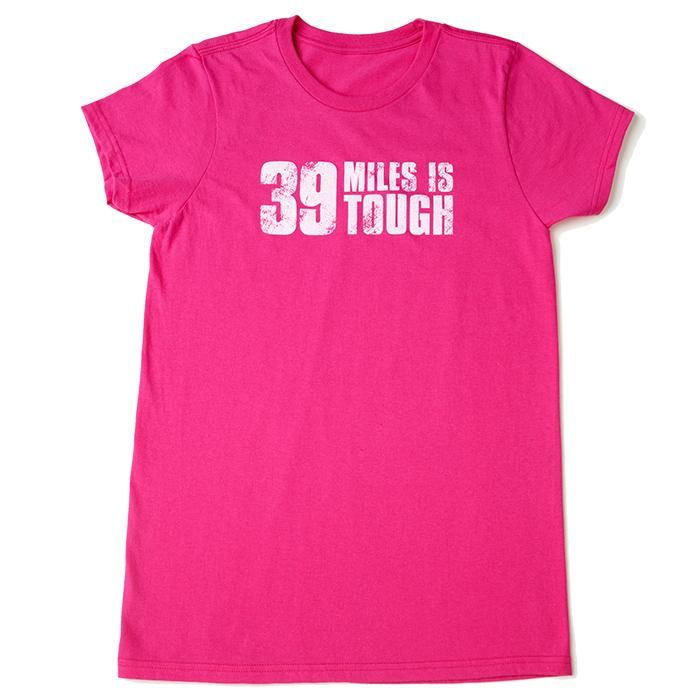 "ONLINE EXCLUSIVE!   Sure, 39 miles is a challenge, but we know you've got what it takes to cross that finish line! Get this limited edition tshirt, available online only (not on-event), while supplies last. The contoured fit and feminine silhouette are flattering, and the ""I'm Tougher"" slogan shows that you're ready to kick breast cancer to the curb!  A portion of proceeds goes to the Avon Breast Cancer Crusade.  Made of 100% spun cotton."