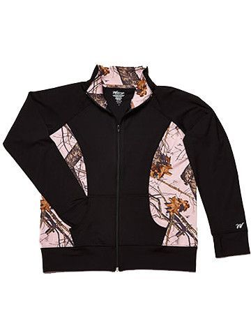 Mossy Oak Pink Camo Jacket Black