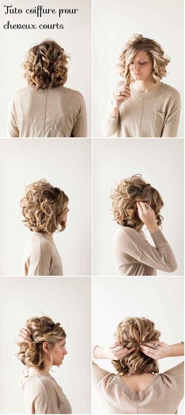 tuto coiffure femme cheveux courts