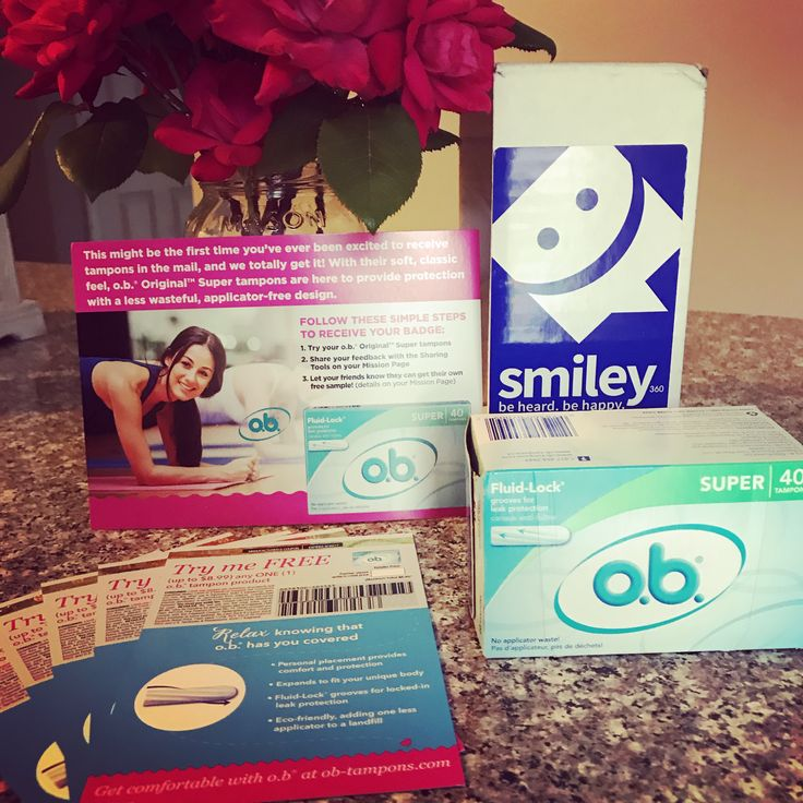 #ad #freesample - I love my new OB tampons! Thanks Smiley360