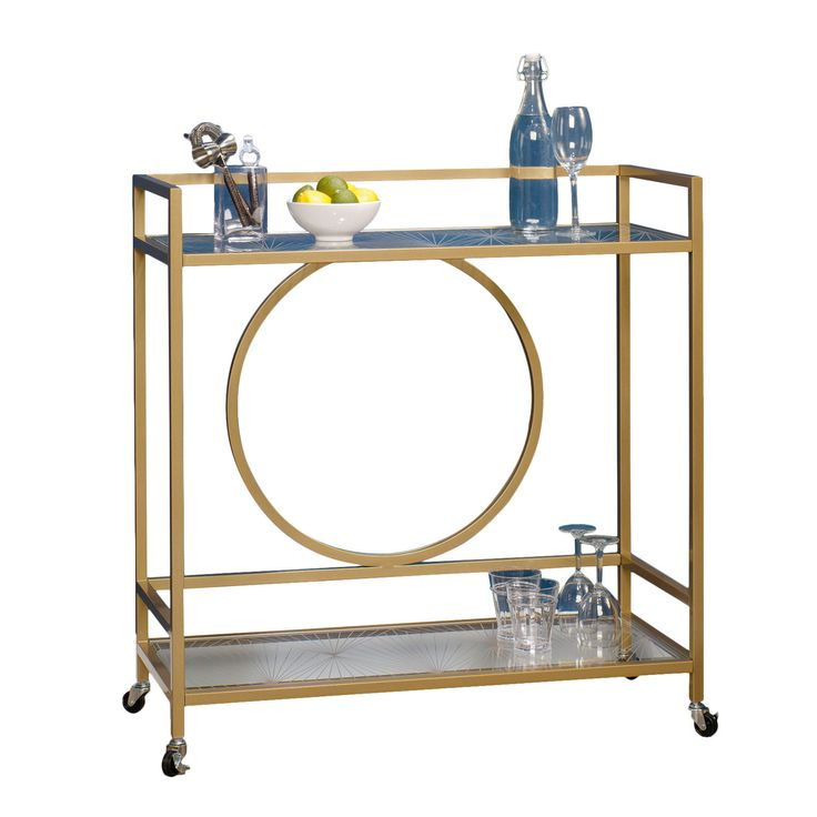 Im not sure how many cocktails I would serve but it would sure look pretty in my house || Sauder International Lux Serving Cart