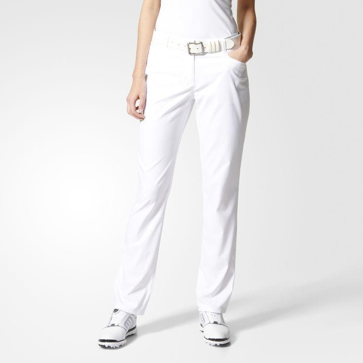 Réalisez le coup parfait, en toute confiance, avec ce pantalon de golf femmes. Conçu en sergé de polyester stretch et léger, il vous offre une grande liberté de mouvement. Des détails classiques sur la poche arrière ajoutent une note élégante à votre look.