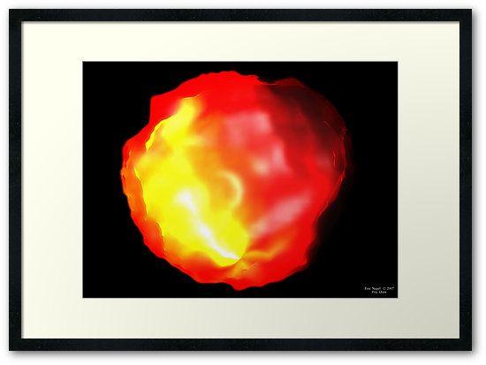 """Framed Print """"Fire Glow"""" by Eric Nagel #HomeDecor #Kunst #Art #Print #Poster #Wandbilder #wandgestaltung #schlafzimmer #Bilder #DigitalArt #digital #art #WallArt #interior #Design #Idea #wandbilder #interior #design #decoration #home #EricNagel #print #framed"""