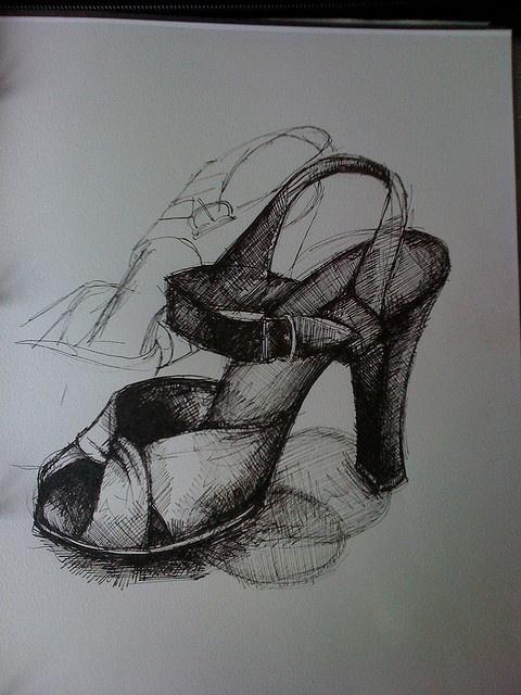 1940s shoe drawing by debz.eastlake, via Flickr