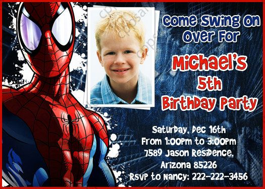 The 25 best spiderman birthday invitations ideas on pinterest spiderman birthday party invitation digital file 800 via etsy stopboris Image collections