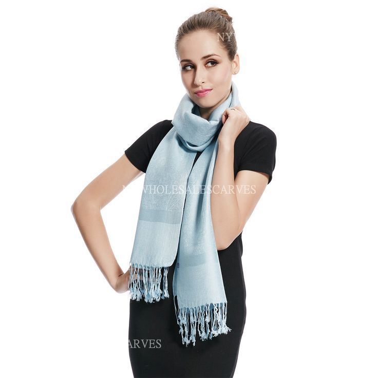 Jacquard Pashmina PL1819 Baby Blue [PL1819] - $3.65 : Wholesale scarves, Wholesale Pashmina from a Direct importer