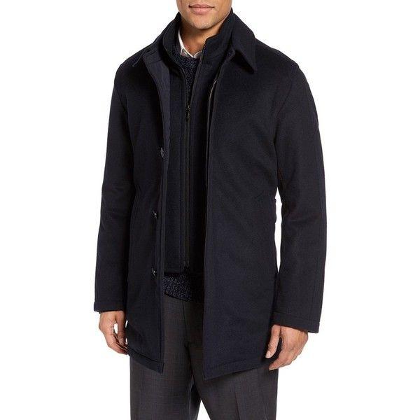 Men's Sanyo Kennedy Getaway Rain Coat (6,460 MXN) ❤ liked on Polyvore featuring men's fashion, men's clothing, men's outerwear, men's coats, midnight blue, sanyo mens coats, mens rain coat, mens raincoat, mens coats and mens mac coat
