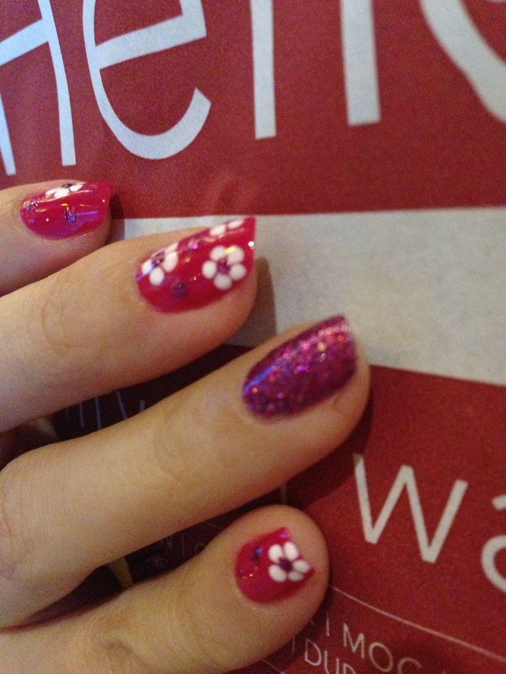 Glittery dots flowers