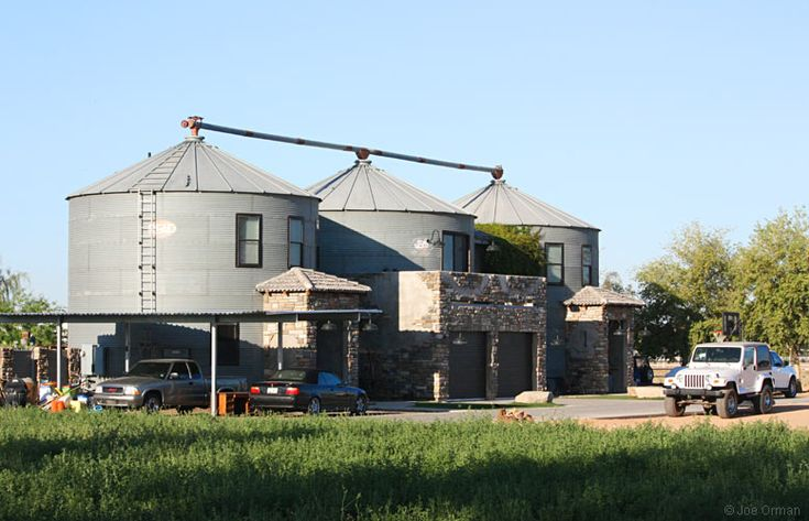 Grain silo house gilbert arizona don and carolyn for Silo home designs