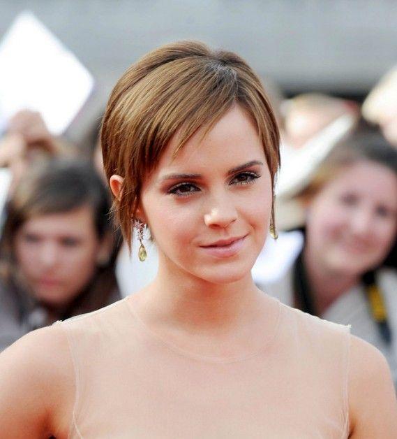 Emma Watson Pixie Haircut- like the length of this hair cut