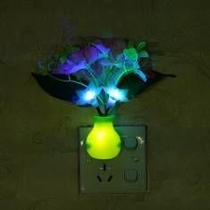 #Banggood Фиолетовый LED затемнение ночь свет 7 цветов изменяя искусственный цветок управление светом стены дома декор  (1025826) #SuperDeals