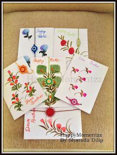HappyMomentzz crafting by Sharada Dilip: Rakhi Cards 2015 handmade rakhi cards