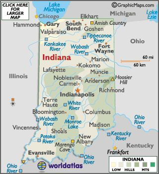 Indiana Map Geography Of Indiana Map Of Indiana