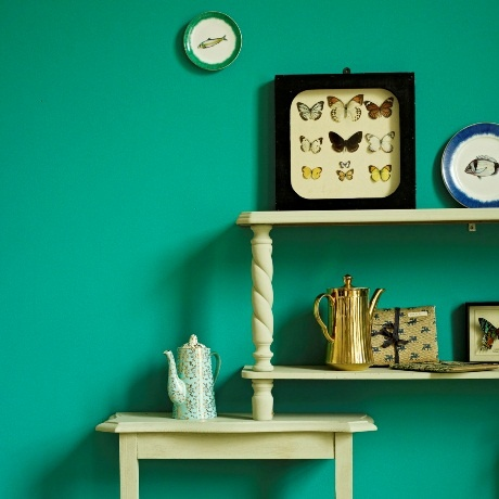 Fired Earth new Paint Collection, Mrs Booth roomset...styling by Louisa grey and photography by Emma Lee
