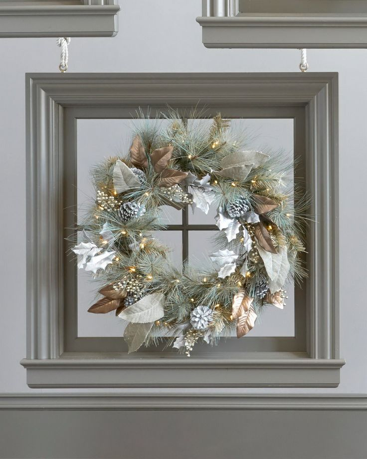 Lush and diverse foliage make our Vintage Sage Wreath and Garland a fitting display all throughout winter. Taking inspiration from the distinct greenery of the Rocky Mountains, it has an enchanting blend of beautiful needles and leaves, highlighted by the warm white glow of its LED lights.