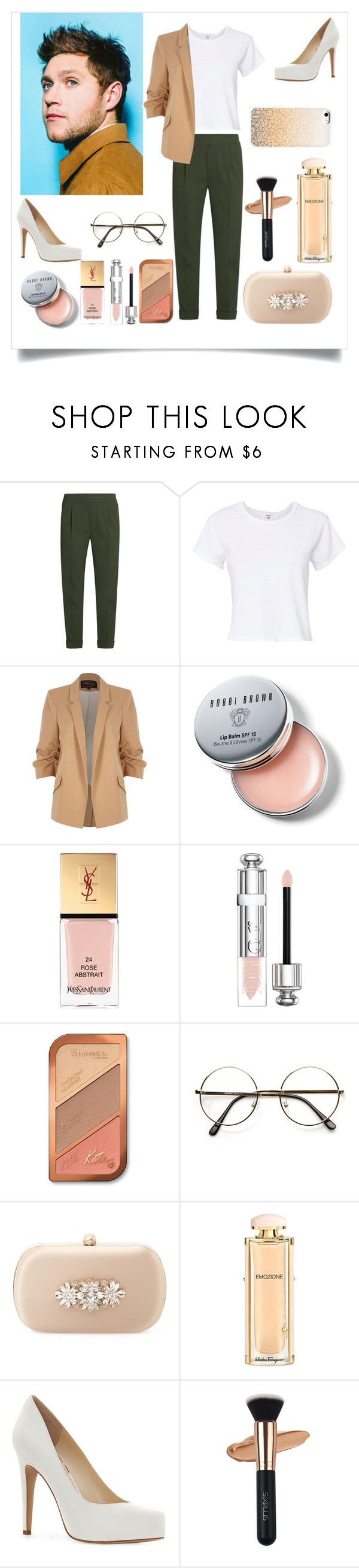"""Con Niall Horan en sesión de fotos"" by andyramos-1 ❤ liked on Polyvore featuring Vince, RE/DONE, River Island, Bobbi Brown Cosmetics, Yves Saint Laurent, Christian Dior, Rimmel, Badgley Mischka, Salvatore Ferragamo and Jessica Simpson"