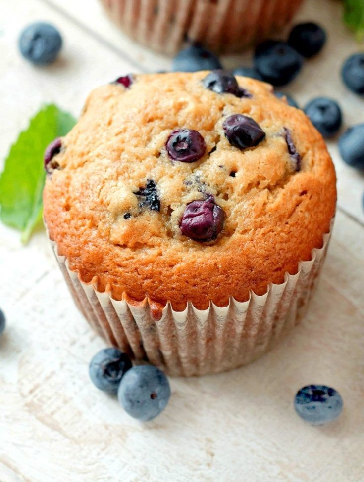 My Husband Said They Were Just As Good As Panera Bread Blueberry Muffins But We Will Let Yo Sour Cream Blueberry Muffins Sour Cream Muffins Blue Berry Muffins