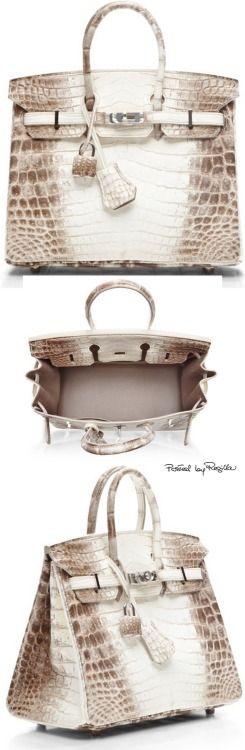 Hermes ~ Himalayan Matte Nilo Crocodile 25 cm Birkin Bag 2015 Sold for $185,000