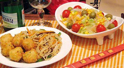 Shing-Shang  Restaurante de comida China vegetariana. C/ Concepción Arenal 3, Madrid