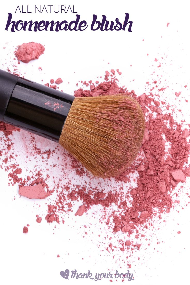 All natural homemade blush is really easy to make and adapt to your skin tones. Learn the secrets to making your own blush and living a non-toxic life.