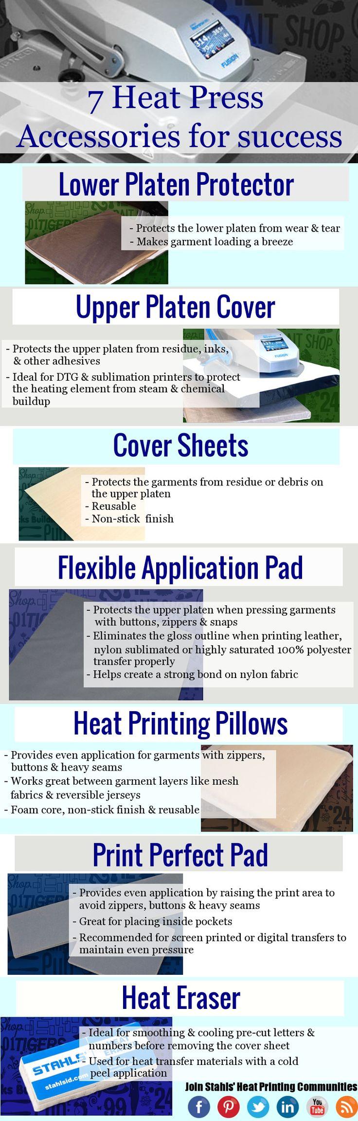 7 #HeatPress Accessories for Heat Printing Success. Stahls.com