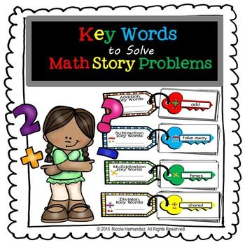 Worksheets Mathematical Story About  Addition,subtraction,multiplication And Division 17 best ideas about math key words on pinterest vocabulary problem solving to solve problems keyword methodkeyword guidesubtraction multiplicationmultiplication and div