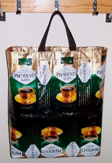 Coffee Bag from recycled coffee bags