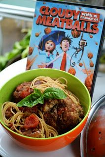 Meatballs....Cloudy with a Chance of Meatballs Dinner and Movie. Cooking with the kids.