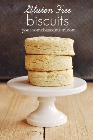 Gluten Free Biscuits @Misty Schroeder Carver She also mentions using almond milk instead of regular milk