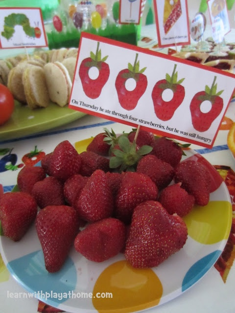 Very Hungry Caterpillar Food Labels. Free