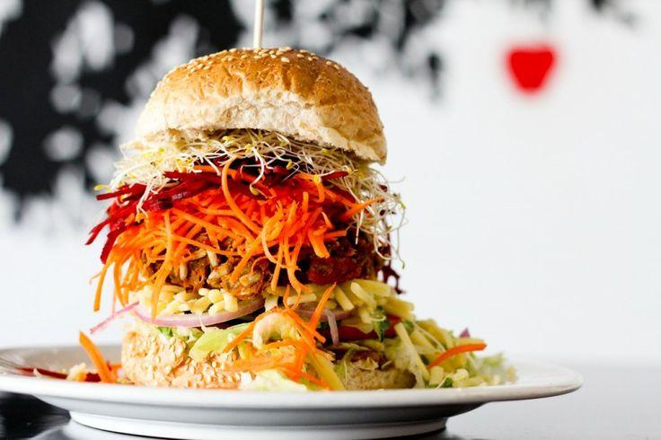 Our Famous Veggie Burgers | Magic Apple Vegetarian & Vegan Cafe Gold Coast!