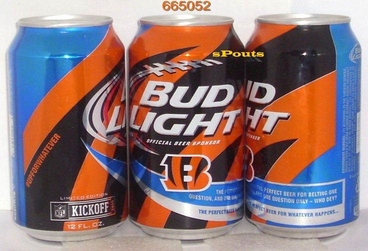 2015 NFL KICKOFF CINCINNATI BENGALS BUD LIGHT BEER CAN OHIO FOOTBALL OH MAN-CAVE