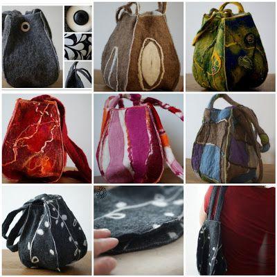 Seed bags made of felt.