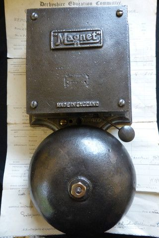 Huge Vintage Cast Iron \ Magnet\  Industrial Fire / Door Bell - 240v & 97 best Stock - Door Bells Boxes Pulls \u0026 Pushes images on Pinterest