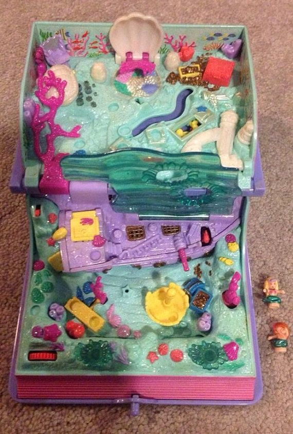 Vintage Polly Pocket Mermaid Kingdom Adventure Storybook Purple Bluebird Toys With Figures on Etsy, $44.78 CAD